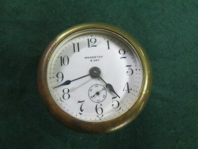 Brass Roadster 8 Day Car Clock Old Automoble Car Clock Parts Restore