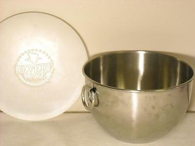 Vintage Revere Ware 1 Qt. Stainless Steel Mixing Bowl W/ Lid