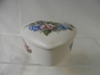 Purbeck of Poole Pottery Heart Shaped Decorative Lidded Trinket Pot