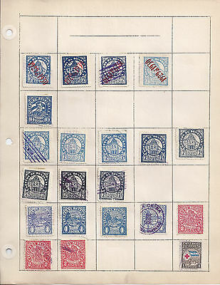 Honduras • Misc Postage Stamp Lot Mounted on Pages •