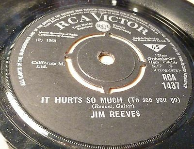 """Jim Reeves You`re The Only Good Thing/oh How I Miss Tou Tonight  7"""" Vinyl Single"""
