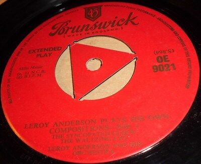 """Leroy Anderson & Orchestra Plays His Own Compositions  Vinyl 7"""" Sge Brunswick"""