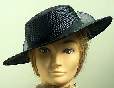 STYLISH NAVY WIDE BRIM OCCASION HAT BY WING - New With Tags