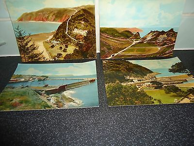 """4 old mixed unused post cards from various north devon size 6"""" x *"""""""