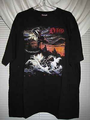 DIO Ronnie James XXL Holy Diver Tour Shirt Black Sabbath Ozzy Osbourne XMAS ACDC