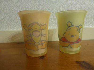 Tupperware Tumblers   1 with Pooh & 1 with Tigger 8 ounce Tumblers