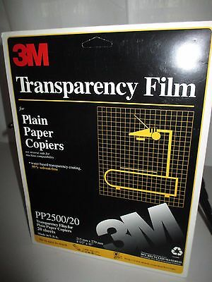 3M Transparency Film For Plain Copiers 14 sheets Unused from 20 pack