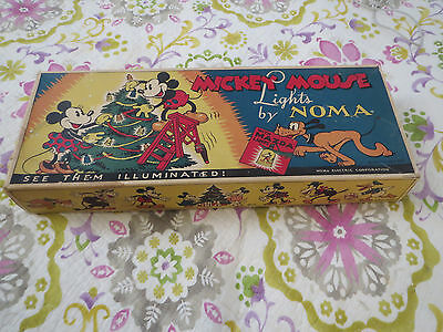 1930S Mickey Mouse Christmas Lights By Noma Walt Disney Enterprises Rare