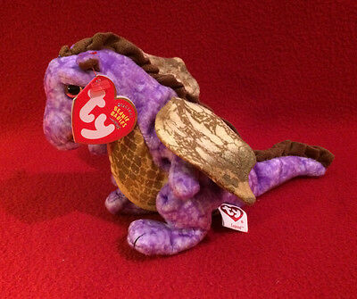 TY Beanie Baby  - Legend the Dragon - Purple & very cute