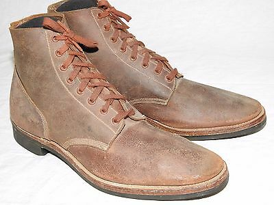 US Navy USMC Marine Post-WW2 1950s BOONDOCKERS ROUGHOUT LEATHER COMBAT BOOTS Vtg