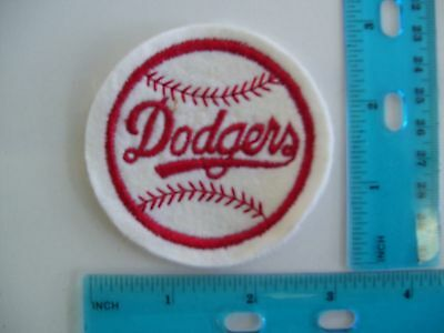 embroidered patch dodgers baseball