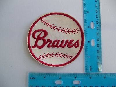embroidered patch braves baseball