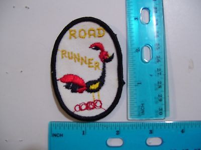 embroidered patch road runner