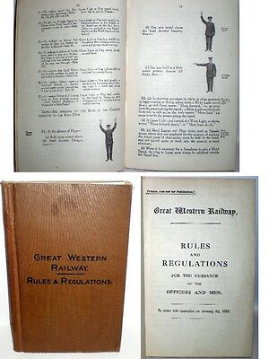 GWR – RULES AND REGULATIONS  Published 1922 - Original copy