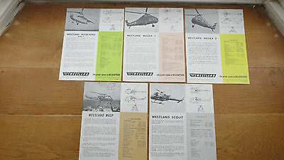Westland Helicopter Publicity 1960's - Whirlwind, Wessex, Scout, Wasp