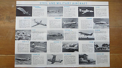 British Aircraft Corp - Aircraft & Guided Weapons  Fold-Out Poster - 1960's