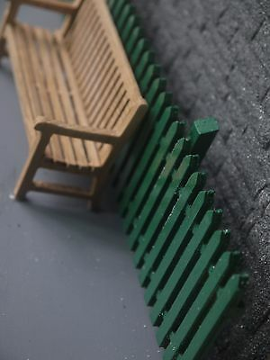 g scale garden railway hard wood ply fence with posts 2.2mtrs