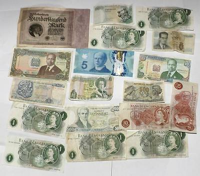 Collection Of UK & World Banknotes