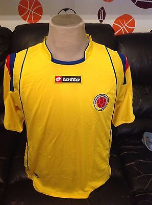 Lotto Soccer Jersey Colombia Qualy Fifa World Cup South Africa 2010 Size M