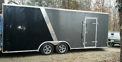 2016 Interstate Wedge Nose Car Trailer with Estate Items Inside
