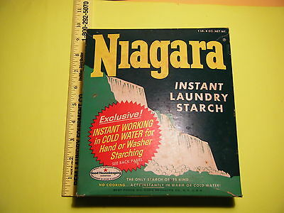 """Vintage 1960's Niagara Instant Laundry Starch 7.5"""" X 9"""" priced 41¢ full sealed"""