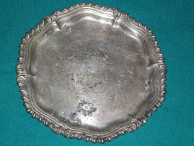 WWII era OFFICER'S WIVES CLUB MURNAU Germany silver plated TRAY Decorative metal