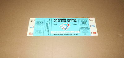 1977 Toronto Blue Jays Opening Game Full Ticket First Game Ever