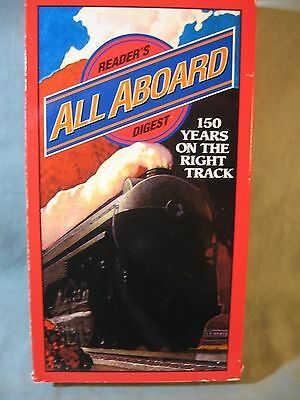 """Reader's Digest Video Cassette (Vhs), """"all Aboard"""", 130 Minutes, 1996, Used"""