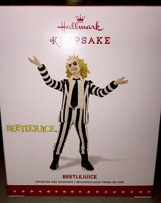 New Hallmark Keepsake 2015 Beetlejuice Movie Michael Keeton Ornament NIB
