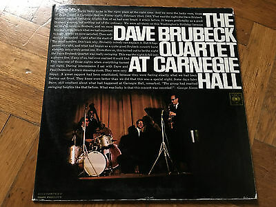 2 LP ITALY   1967 NM STEREO  The Dave Brubeck Quartet – At Carnegie Hall