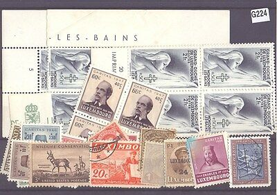 g224-Luxembourg Selection-Mint & Used