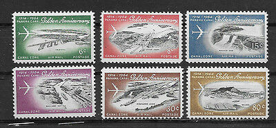 Canal Zone , Us , 1964 , Airmail ,  Set Of 6 Stamps , Perf , Mnh