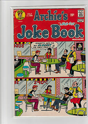 ARCHIE'S JOKE BOOK 186 VG+ 1973 Archie Series