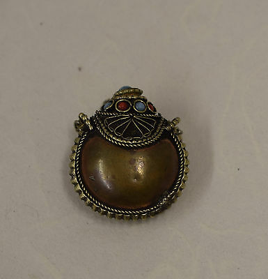 Copper Coin Silver Snuff Bottles Nepal Pendants