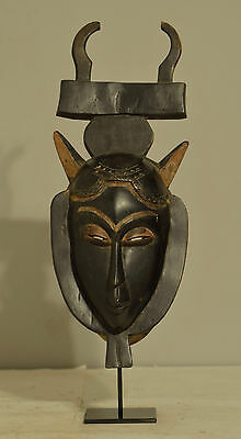 Yaure Ivory Coast Wood Mask African Black Hand Carved