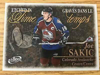 2003-04 McDonald's Hockey Cards Pacific Etched in Time #1 Joe Sakic