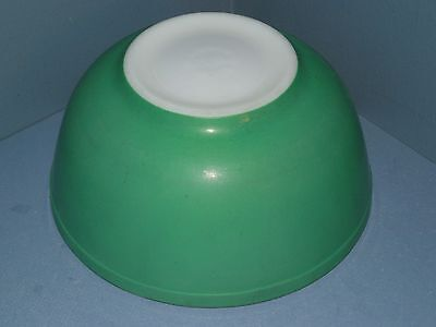 Vintage PYREX Primary Colors Green Nesting  Mixing Bowl-No Numbers