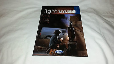 Ford Light Vans UK Brochure 1999 Edition 1 Courier Escort Fiesta