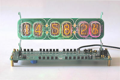 IN-12B Nixie Clock Assembled (Color LED backlit display)Nixie Tubes NOT Included