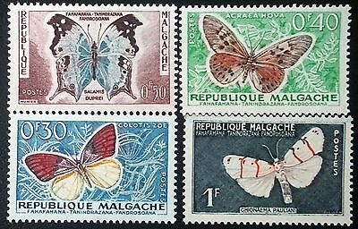 MALAGASY REPUBLIC (Madagascar)  Set of 6 Butterflies stamps   MH    Lot #1