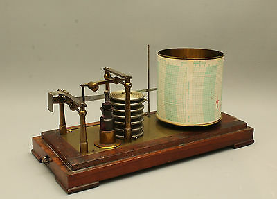 Antique Mahogany Cased French Barograph by Richard Frerés-Paris - Very Good Cond