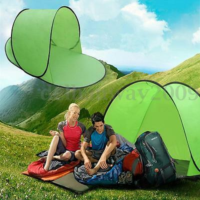Fast Quick Easy to Pitch Pop Up Tent Camping Festival Instant Two Person Couples