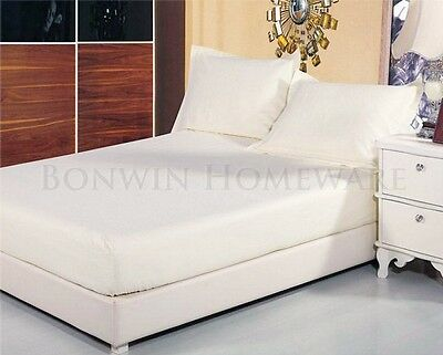 Egyptian Cotton 1000TC -40cm Fitted Sheet & Pillowcases Double size Set - Ivory