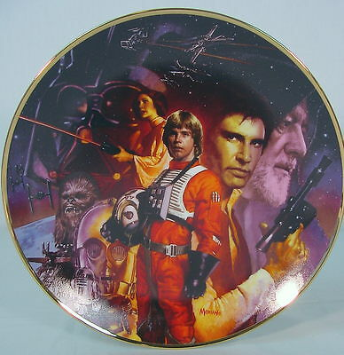 Hamilton STAR WARS Plate Trilogy Collection~ A NEW HOPE~ 1993~ MIB~