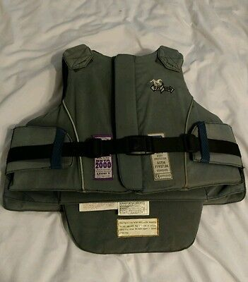 Eventing or Cross Country protective equestrian vest. Size Childs 28 Large.