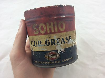 Original Sohio grease Can Sign Gas Oil Sinclair Gulf AUCTION NR