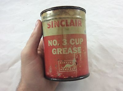 Original Sinclair Cup grease Can Sign Gas Oil Sinclair Gulf AUCTION NR