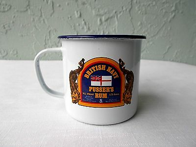 PUSSER'S RUM British (Royal) Navy, TRADITIONAL TOASTS 10 oz ENAMELED TIN CUP/Mug