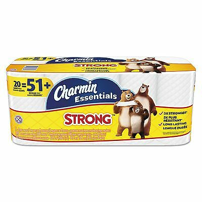 Charmin Essentials Strong Bathroom Tissue, 1-Ply, (300 sheets per roll, 20 rolls
