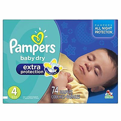 Pampers Swaddlers Overnights Diapers Size 4 62 Count New